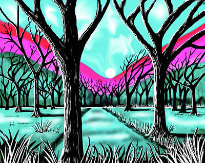Licorice Digital Art - Licorice Forest by Steve Farr