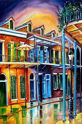 New Orleans Oil Painting - Life After Dark by Diane Millsap