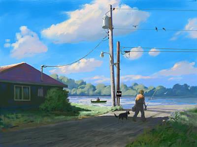 Walking The Dog Digital Art - Life In The Slow Lane by Joseph Scott