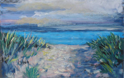 Landscape Painting - Life Is A Beach by Cathy Weaver