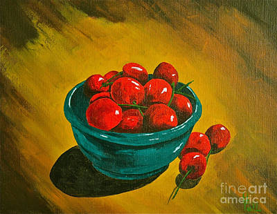 Life Is A Bowl Of Cherrys Print by Herschel Fall