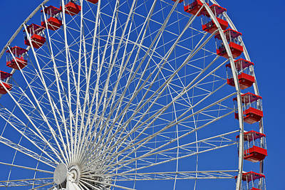 Life Is Like A Ferris Wheel Print by Christine Till