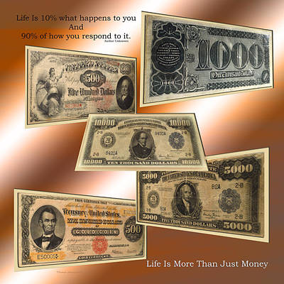 Life Is More Than Money 02 Print by Thomas Woolworth