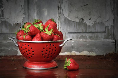 Strawberry Digital Art - Life Is Sweet by Lori Deiter