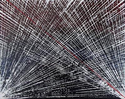 Pentagram Art Painting - Life Lines by Embrace the Matrix