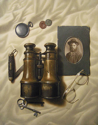 Hyperrealism Painting - Life Of A Traveler by Timothy Jones