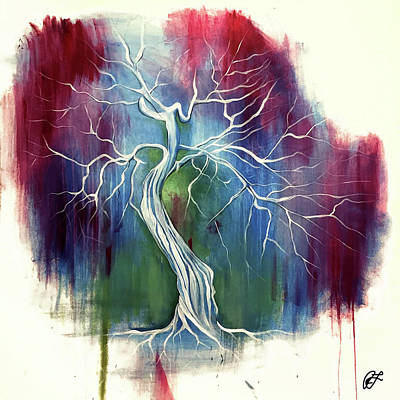 Tree Roots Painting - Life by Rachel LADEBU