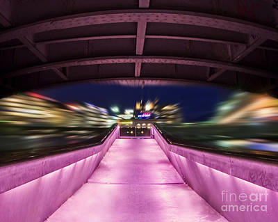 Long Exposure Photograph - Life Under The City In Geneva by Chris Smith