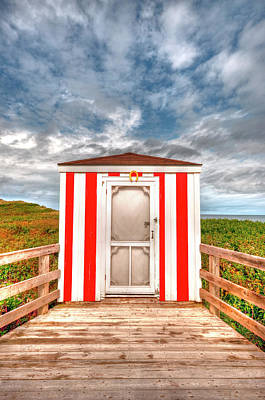 Lifeguard Hut Print by Elisabeth Van Eyken