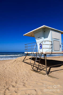 Copy Photograph - Lifeguard Tower Photo by Paul Velgos