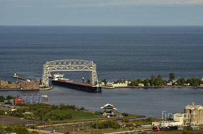 Lake Superior Art Gallery Photograph - Lift Bridge by Whispering Feather Gallery