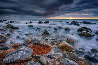 Montauk Photograph - Light And Dark At Montauk Point by Rick Berk