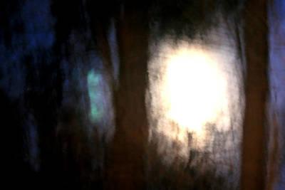 Light Breaking Through The Dark Forest Print by Johann Todesengel