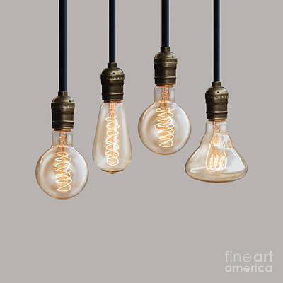 Luminous Digital Art - Light Bulb by Setsiri Silapasuwanchai