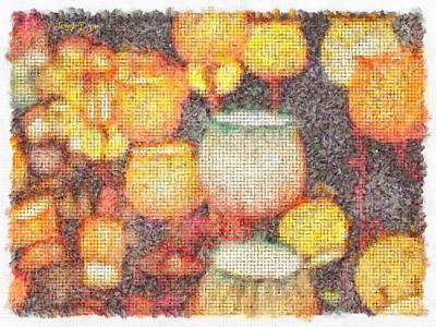 Detail Digital Art - Light Flowers Orange - Da by Leonardo Digenio
