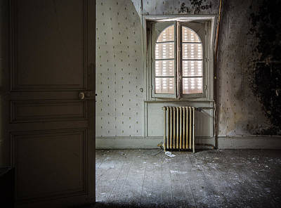 Haunted House Photograph - Light From Another Room - Urban Exploration by Dirk Ercken
