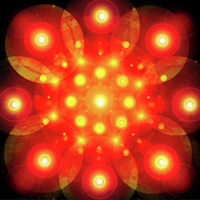 Light-mandala No. 02 Print by Ramon Labusch