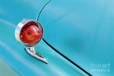 Light Of A Classic American Car Print by Sami Sarkis