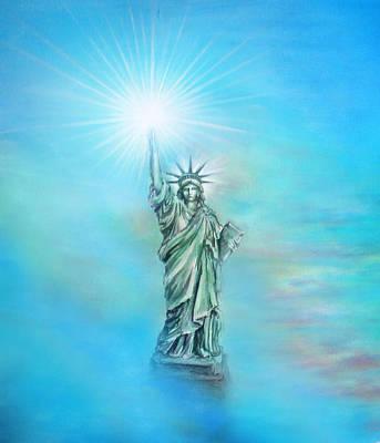 Patriotism Painting - Light Of Liberty by Sofia Goldberg