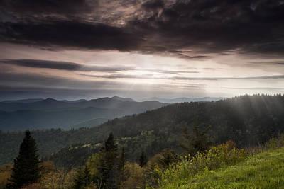 Solitude Photograph - Light On The Blue Ridge by Andrew Soundarajan