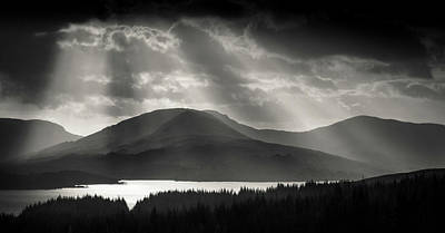 Light Over Loch Tulla Print by Dave Bowman