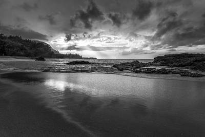 Light Shining On The Beach II Print by Jon Glaser