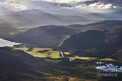 Light Streams, Kinloch Rannoch Print by Rod McLean