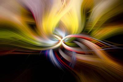 Light Swirl Print by Debra and Dave Vanderlaan