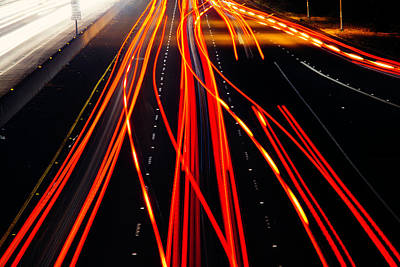 Light Trails Print by Garry Gay