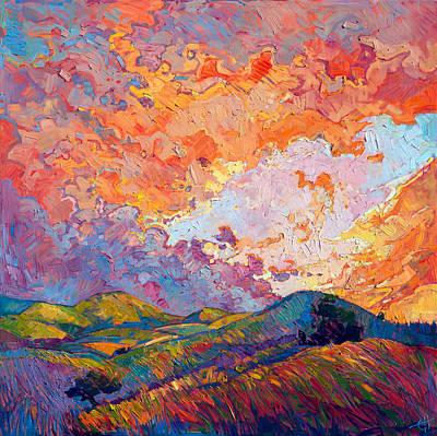 Expecting Painting - Lighted Sky by Erin Hanson