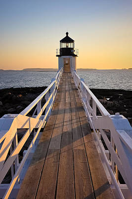 Lighthouse Boardwalk Print by Benjamin Williamson
