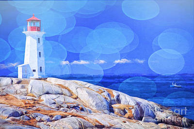 Outdoor Mixed Media - Lighthouse Bubbles by Garland Johnson
