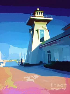 Lighthouse Print by Deborah MacQuarrie-Haig