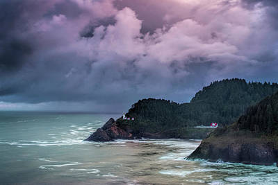 Storm Photograph - Lighthouse Over The Rugged Coast by Andrew Soundarajan