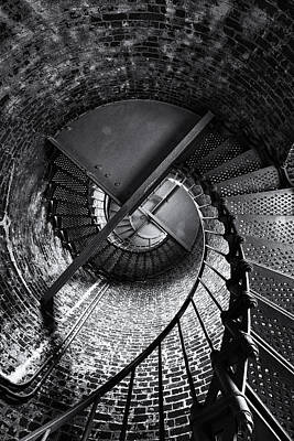 Oregon Photograph - Lighthouse Stairs by Andrew Soundarajan