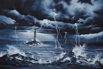 Lighthouse Storm  Original by Zach Kintner