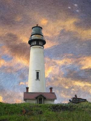 Lighthouse Visitors Original by Snake Jagger