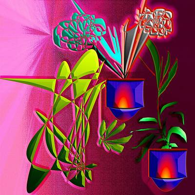 Abstract Painting - Lighting Flowers  by Yelena Rubin