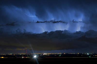 Lighning Photograph - Lightning Cloud Burst by James BO  Insogna