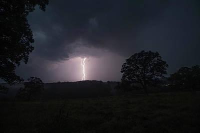 Lightning Photograph - Lightning In The Morning by Tyler Schlitt