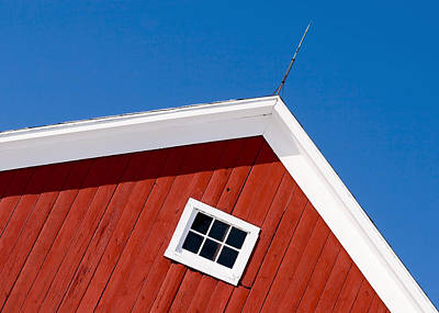 Red Barns Photograph - Lightning Rod Red by Todd Klassy
