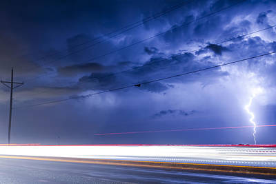 Lightning Spiral In The Night Print by James BO  Insogna