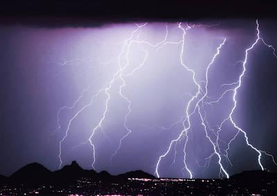 Lightning Storm North Scottsdale Az 85255 Print by James BO  Insogna