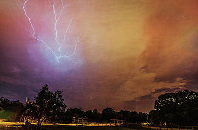 Discharge Photograph - Lightning Strike by Marvin Spates