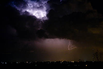 Images Lightning Photograph - Lightning Thunderstorm Cell 08-15-10 by James BO  Insogna