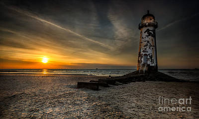 Talacre Photograph - Lights Out by Adrian Evans