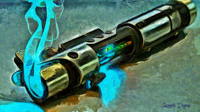 Knife Painting - Lightsaber by Leonardo Digenio