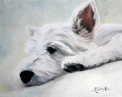 Canine Painting - Like An Angel by Mary Sparrow