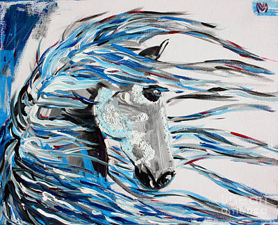 Barn Painting - Like The Wind - Horse Art By Valentina Miletic by Valentina Miletic