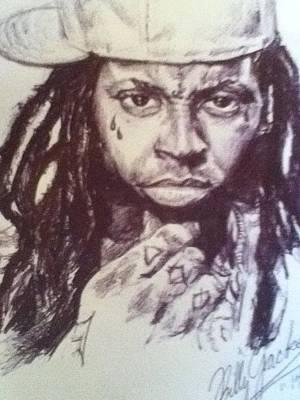 Lilwayne Drawing - Lil Wayne by Billy Jackson